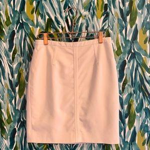 Ann Taylor white pencil skirt